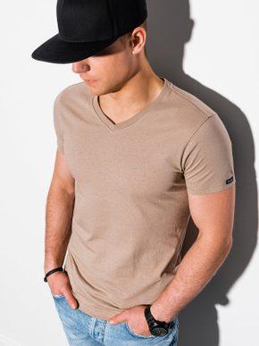 béžové tričko s V-výstrihom