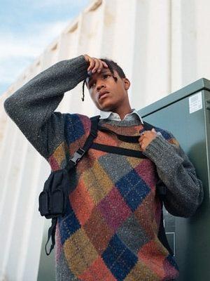 farebný pánsky sveter