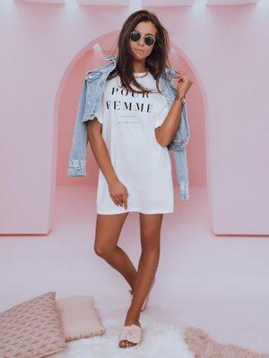 dámske biele oversize tričko