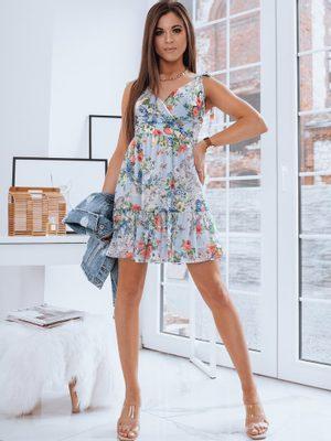 dámske kvetinové šaty krátke bez rukávov