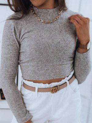 crop béžový dámsky sveter