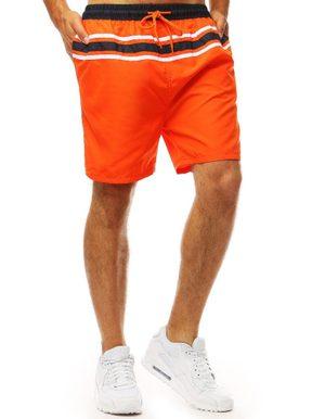 oranžové pánske plavky s kontrastným čiernym pásikom