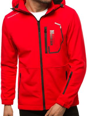 Červená pánska softshellová bunda