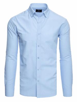svetlomodrá pánska košeľa s dlhým rukávom