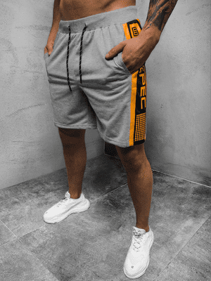 Sivé pánske športové kraťasy