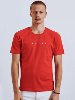 červené pánske tričko s nápisom Relax