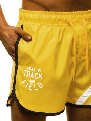 žlté plávacie šortky pánske