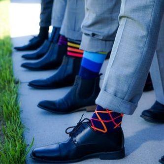 farebné vysoké pánske ponožky