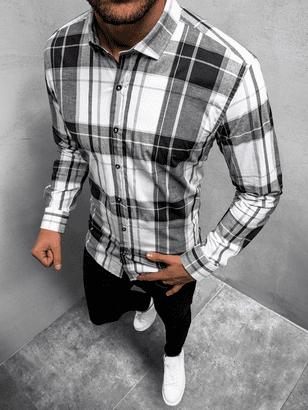 károvaná pánska košeľa