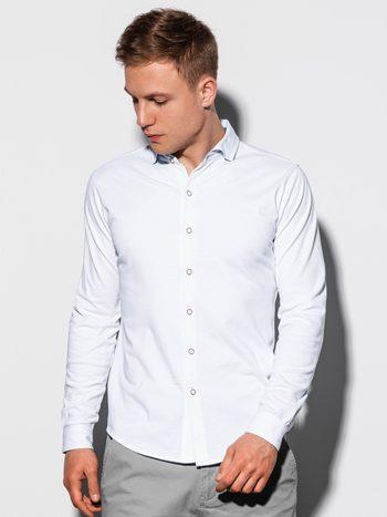 pánska biela bavlnená košeľa