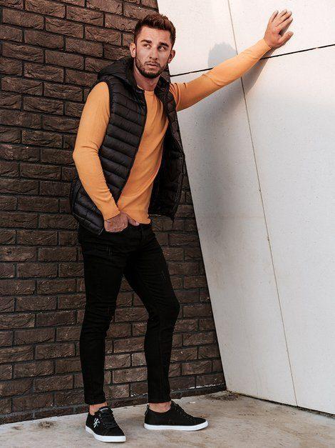 oranžový pánsky sveter