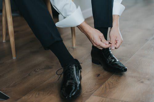 elegantné pánske topánky
