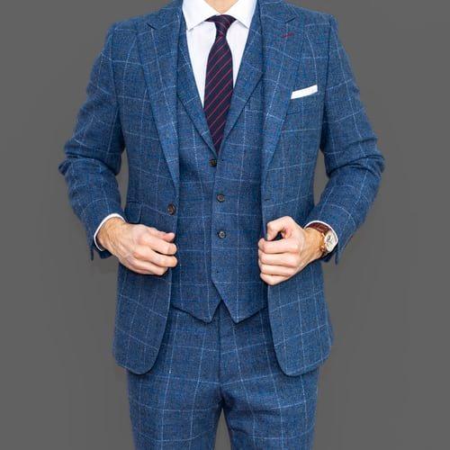 vlnený pánsky oblek