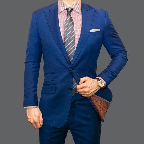jednoradové modré sako