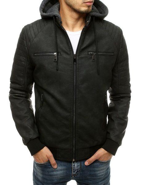 Originálna koženková čierna bunda