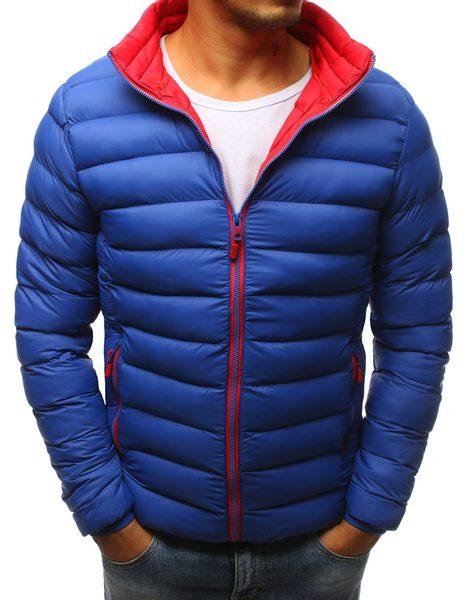 Prešívaná pánska bunda modrá