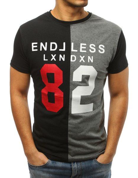Čierno-šedé pánske tričko 82