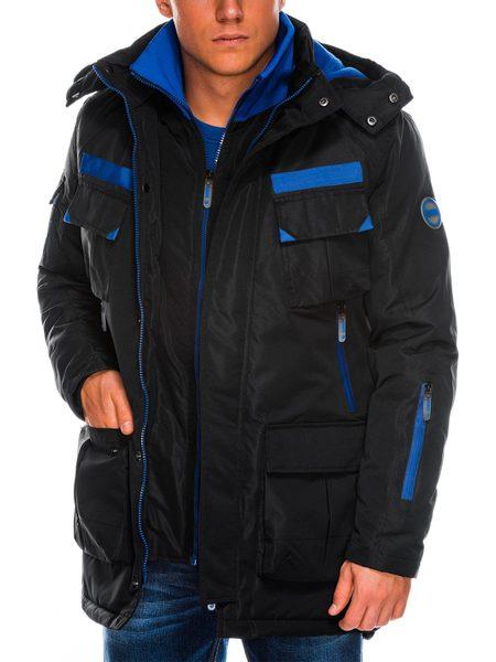 Čierna pánska zimná bunda c379