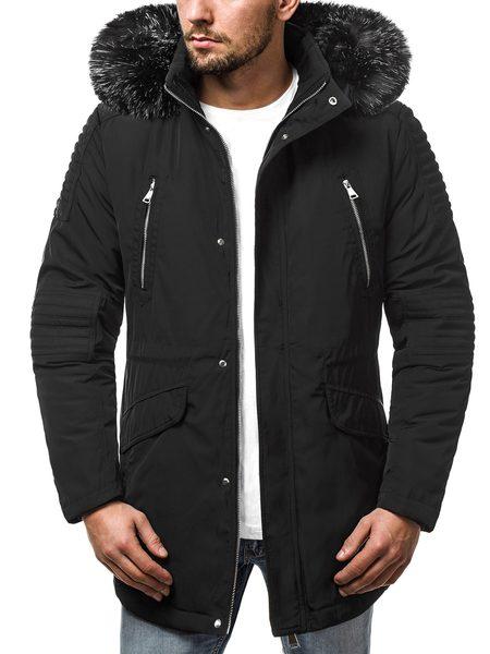 Trendy pánska zimná bunda čierna O/88859