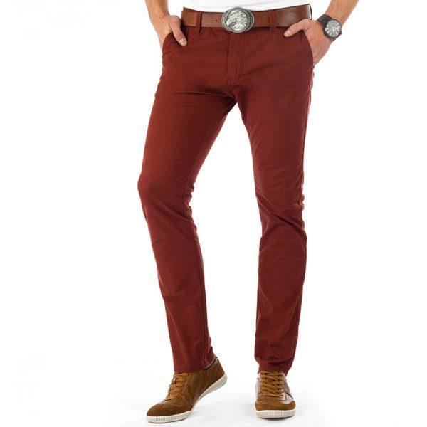 Bordové mestské pánske nohavice