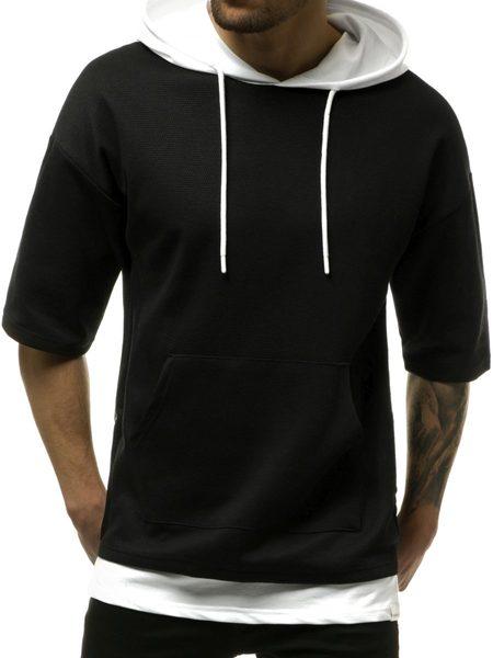 Trendy čierna mikina MACH/1189