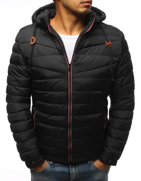 Zimná prešívaná čierna bunda