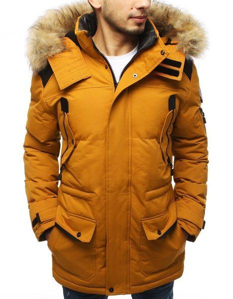 Zimná bunda v kamelovej farbe