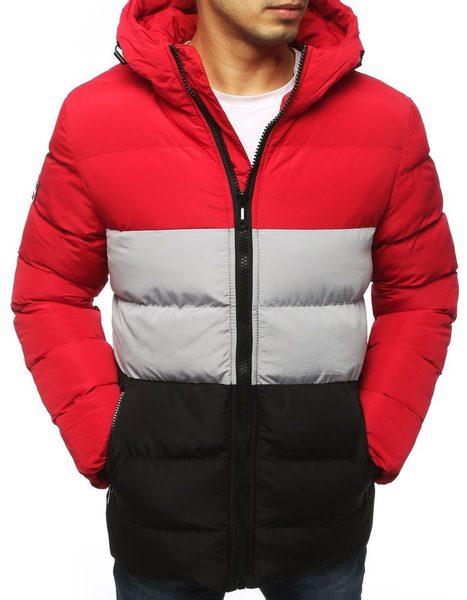 Trendy červená zimná bunda
