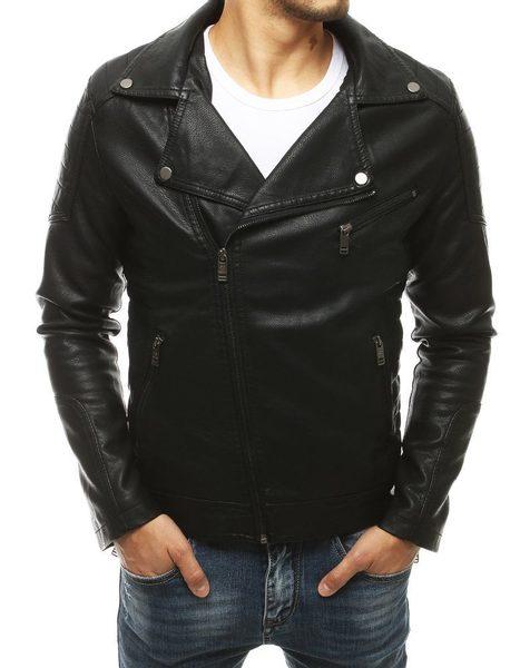 Jedinečná čierna koženková bunda
