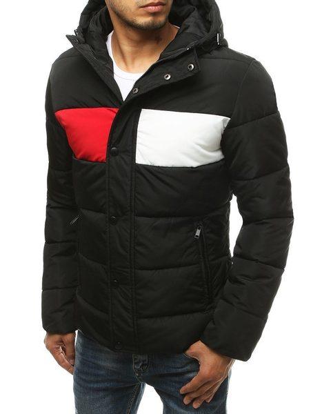 Trendová čierna prešívaná zimná bunda