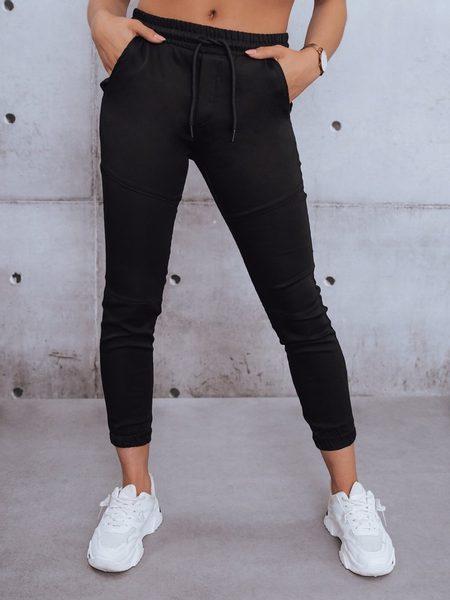 Jedinečné dámske čierne nohavice Pelle