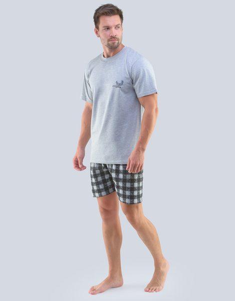 Sivé pánske letné pyžamo Daniel
