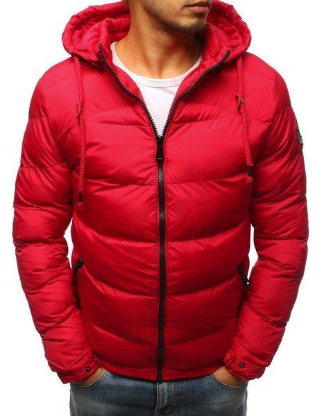 Červená atraktívna zimná bunda