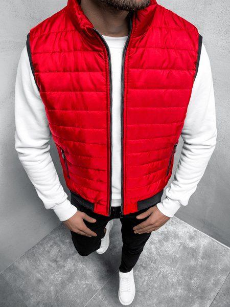 Trendová červená vesta JS/MY77