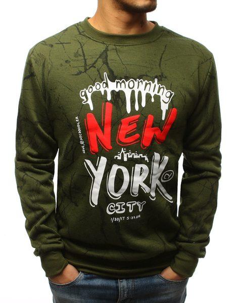 Pánska zelená mikina NEW YORK