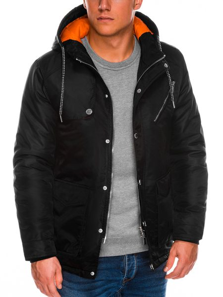 Čierna pánska bunda c302