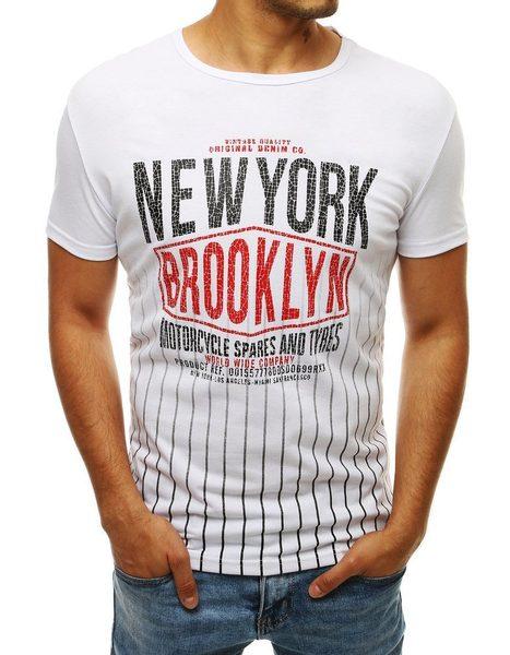 Trendové biele tričko NEW YORK