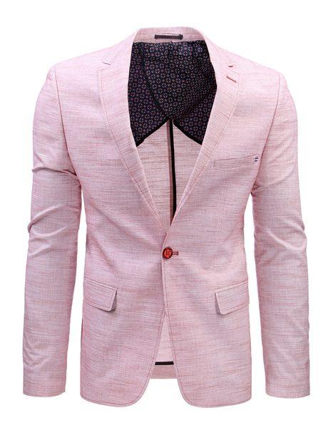 Ružové pánske sako