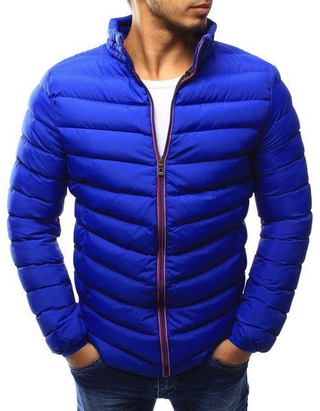 Perfektná modrá prešívaná bunda