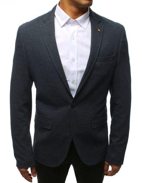 Jednoduché pánske granátové sako