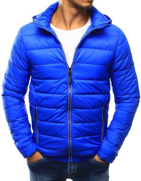 Nádherná modrá prešívaná bunda