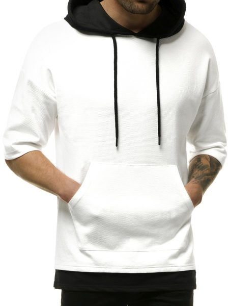 Trendy bielo-čierna mikina MACH/1189