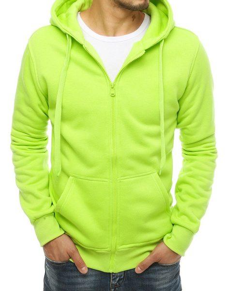 Pohodlná zelená mikina s kapucňou