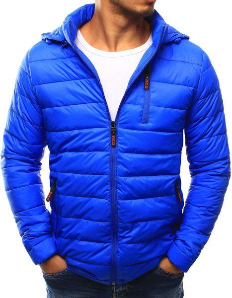 Modrá prešívaná bunda pre pánov