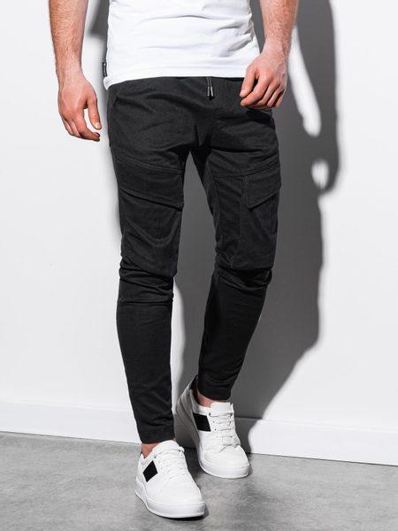 Čierne jogger nohavice P999