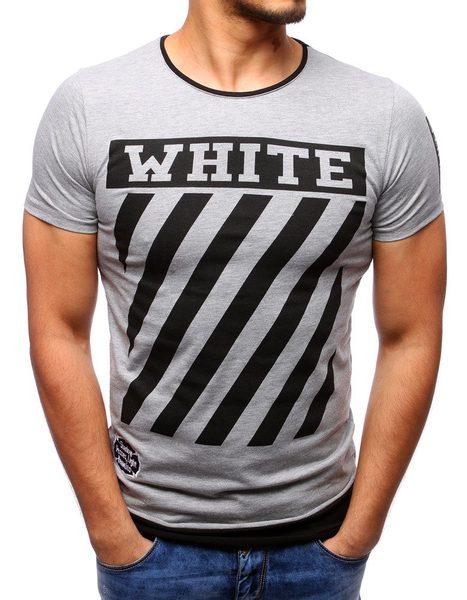 WHITE pánske šedé tričko