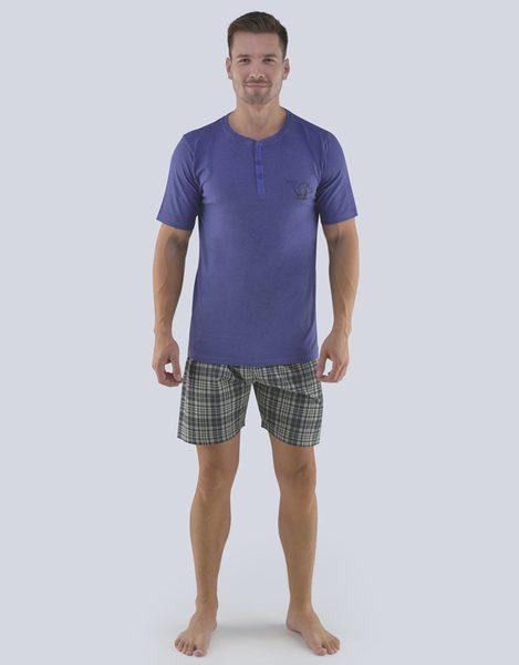 Fialové pánske pyžamo na leto
