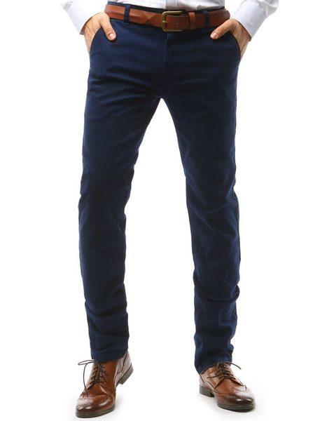 Tmavogranátové pánske chinos nohavice