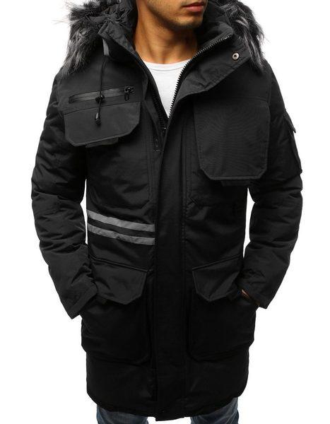 Trendy zimná čierna bunda
