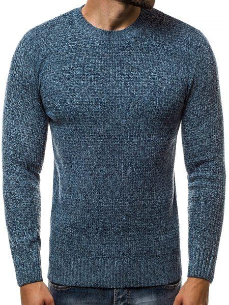Pletený nebesky modrý sveter HR/1803